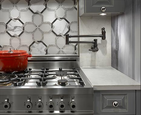 Stylish stove design after kitchen remodeling in Chicago