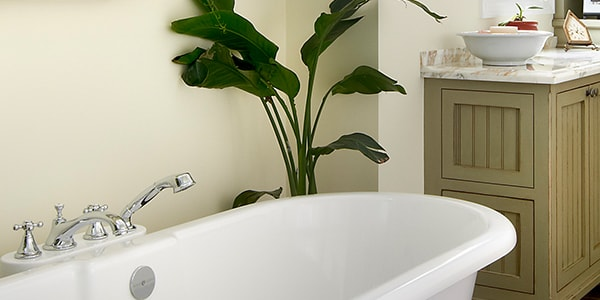Elegant white bathroom remodeling in Chicago