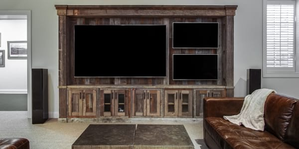 Kenilworth finished basement project with home entertainment theater