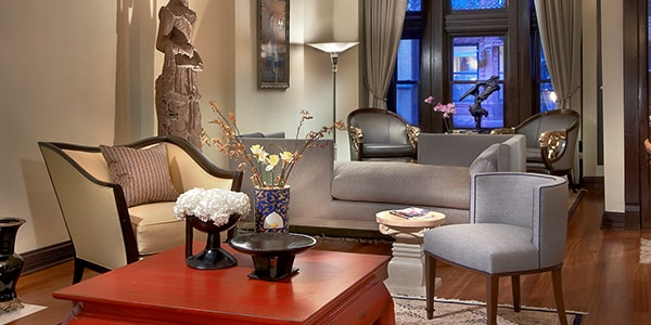 Modern victorian interior design after remodeling in Chicago