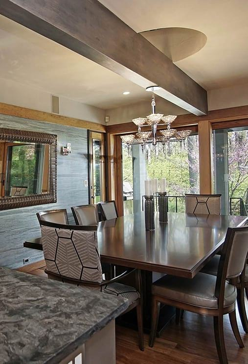 Classic kitchen dining area design with hardwood floors project photo in Lake Forest